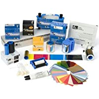 Zebra card 104524-120 CR-80 Premier Plus Composite Card, Translucent Embedded Hologram World Globe, 30 mil Thickness, White