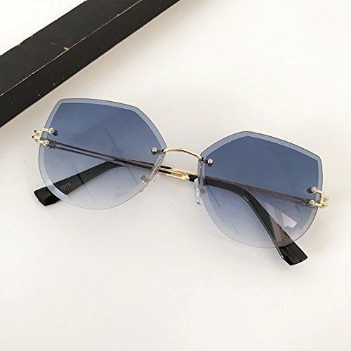 zhenghao Xue De Azul blau Frameless Gafas Sol De qqrvOdw