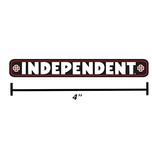 "4"" Black Independent Truck Company Bar Logo Skateboard Sticker Iron Cross Decal"