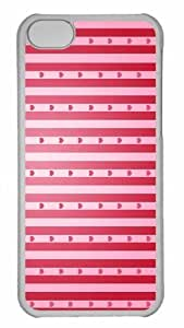 Customized iphone 5C PC Transparent Case - Valentines Day Background Personalized Cover