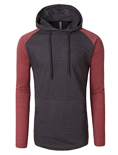OLLIN1 Sleeve Color Raglan Hoodie product image