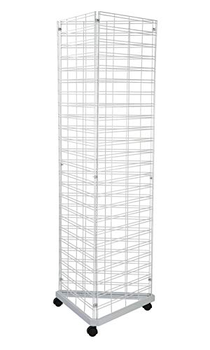 White Triangle Wire Grid Tower with Base ()