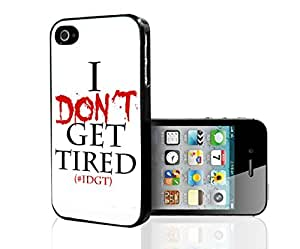 """""""I Don't Get Tired"""" on White Background Hard Snap on Phone Case (iPhone 5/5s)"""