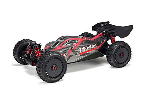 ARRMA Typhon 1/8 Scale BLX Brushless 4WD RC Speed Buggy RTR (6S Lipo Battery Required) with 2.4GHz STX2 Radio, ARA106046 (Matte Red/Grey) (1 8th Scale Rc Truck)