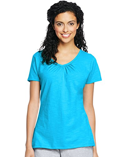 (Hanes Women's Slub Jersey Shirred)