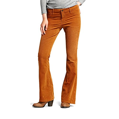 [Mossimo Supply Co. Women's Mid-Rise Flare Leg Corduroy Pants (16, Toffee)] (Womens Pink Corduroy)