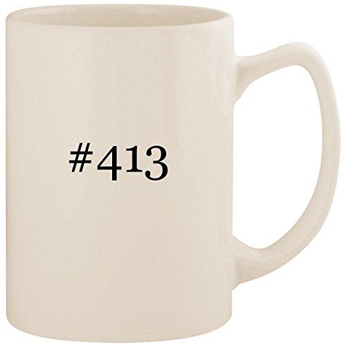 - #413 - White Hashtag 14oz Ceramic Statesman Coffee Mug Cup
