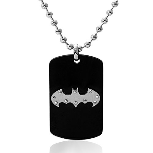Dog Tag Ornament - DC Comics Jewelry for Men and Boys Batman Stainless Steel Dog Tag Pendant, 22