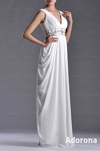 Floor Chiffon neck Natrual Straps Dress V Prom Length Daffodil qtPwIT