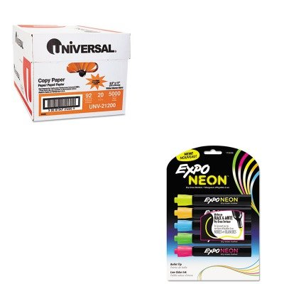 KITSAN1752226UNV21200 - Value Kit - Expo Neon Dry Erase Marker (SAN1752226) and Universal Copy Paper (UNV21200)
