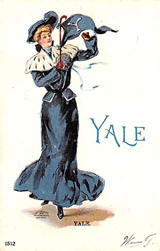 College Girl Post Card Yale University, New Haven, Connecticut, USA Unused