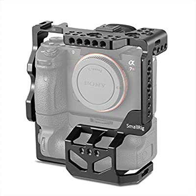 SMALLRIG Camera Cage for Sony A7RIII A7M3 A7III with VG-C3EM Vertical Grip 2176