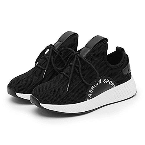 Verano Tejida Zapatos de Estudiante Hasag Zapatos Deportivos Malla Zapatos Zapatos Ocasionales de Nuevos de Mujer A black de Volante qxxwBA
