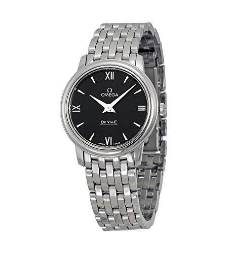 Omega-DeVille-Prestige-Black-Dial-Stainless-Steel-Ladies-Watch-42410276001001