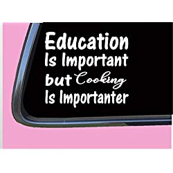"Cooking Important TP055 vinyl 6"" Decal Sticker"