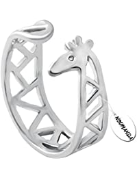 Animal Jewelry Adorable Giraffe Finger Ring Open Wrap Ring