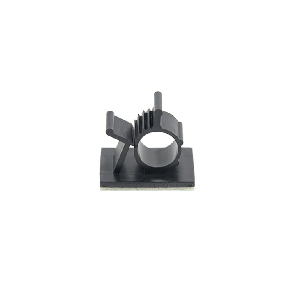 TOVOT 100 PCS Adjustable Cable Clips Self - Adhesive Diameter 0.4'' -0.3'' Cable Clamps Wire Clips for Home,Office,Car Cable Wire Management