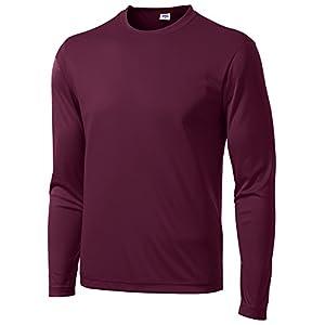 Opna Men's Long Sleeve Moisture Wicking Athletic Shirts 27