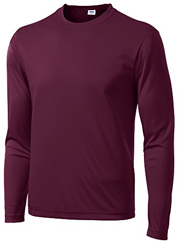 Opna Men's Long Sleeve Moisture Wicking Athletic Shirts -