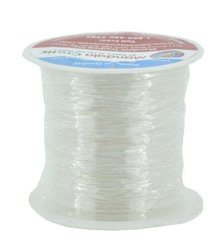 Mandala Crafts Elastic Crystal String, Bracelet String, Bead String, 20 Meters, 0.8mm (Plastic Lacing)