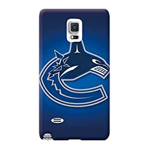 Durable Cell-phone Hard Covers For Samsung Galaxy Note 4 With Customized Realistic Vancouver Canucks Pictures JacquieWasylnuk