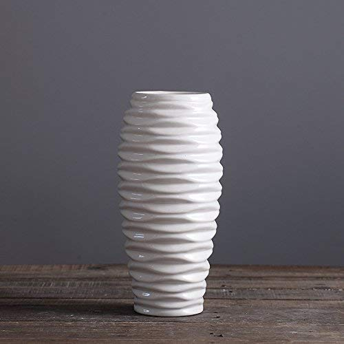 - D'vine Dev White Ceramic Vase for Flowers 11 Inches - Home Decor Table Centerpieces Vase