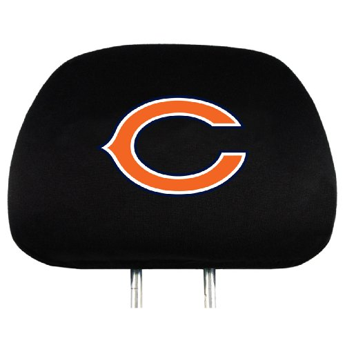 - NFL Chicago Bears Head Rest Covers, 2-Pack