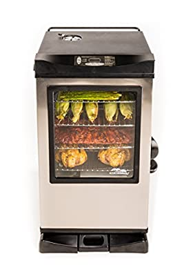 Masterbuilt 20070910 30-Inch Black Electric Digital Smoker, Top Controller by Masterbuilt