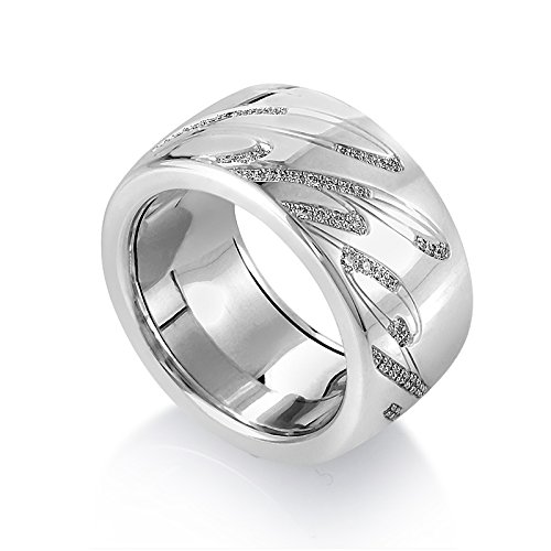 Chopardissimo 18K White Gold Diamond Band Ring 826580-1210