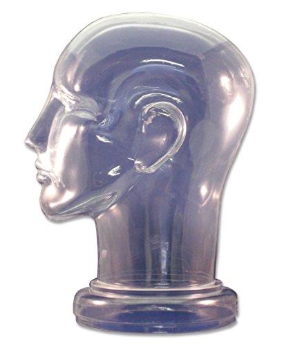 Plastic Head - Clear Plastic Manikin Head