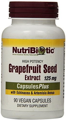 NutriBiotic GSE Grapefruit Seed Extract Capsules Plus -- 125 mg - 90 Capsules