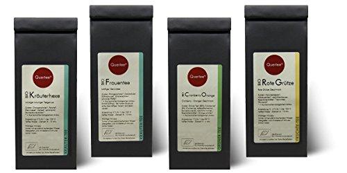 Probierset Biotee Quertee® Nr. 3 - 4 x 50g Bio Tee - Tee Geschenkset - Tee Geschenk -