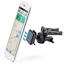 Magnetic Air Vent Mount - iKross Smartphone Air Vent Car Vehicle Mount Cradle Holder for Mobile Phone, iPhone and Smartphone, GPS and More - Black