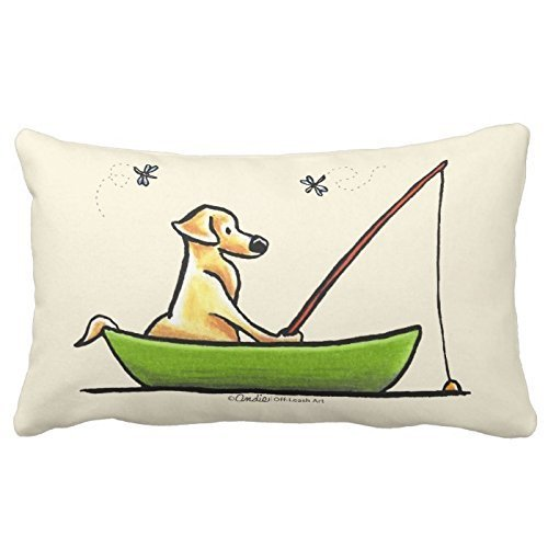 Yellow Lab Fishing Throw Pillows Custom Throw Pillow Case Personalized Cushion Cover Pillowcase Pillow Cover 20x30 by Piillow