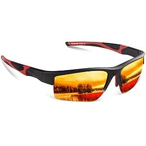 Polarized Sports Sunglasses for Men Women,Zhara 100% UV Protection  Baseball Running Cycling Fishing Driving Golf Softball Hiking Running Climbing Outdoor Activities Lightwight Tr90 Frame