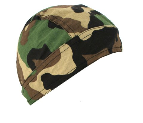 Zan Headgear Flydanna Headwrap , Distinct Name: Woodland Camo, Primary Color: Green, Gender: Mens/Unisex, Size: OSFM Z118C Headwrap Green Camo