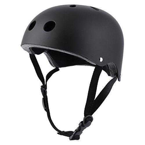 OUTAD Multi Sport Helmet Impact Resistance Safe Helmet Skateboard Helmet For Kids Youth Adults (Elegant Black, M)