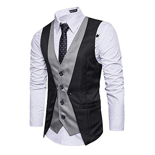Décontracté 2018 2 Mode Gilet Slim 3 Social Vest coloré Groom pièces 2 Size Taille Business Faux M couleur Deux L Patch Plus Red Fuweiencore Suit Taille Bqz8xzE