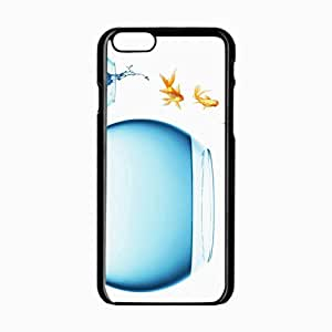 iPhone 6 Black Hardshell Case 4.7inch fish jump change aquariums background Desin Images Protector Back Cover