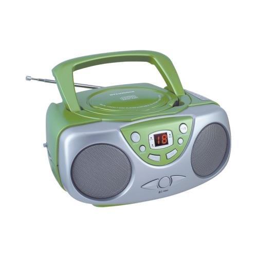 - Sylvania Srcd243m Green Portable Cd Radio Boom Box (Green)