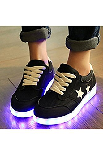 (Presente:pequeña toalla)JUNGLEST Mujer LED Zapatos Deportivos USB Gris