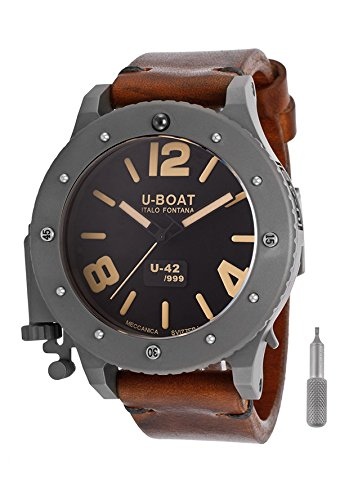U-Boat Men's U42 Automatic Black Dial Brown Genuine Leather