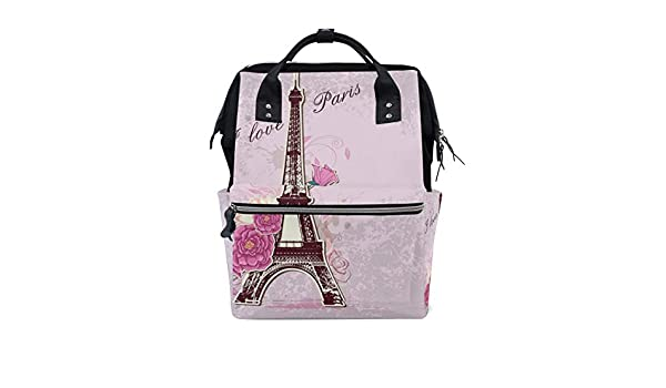 a6c87d8234c0 Amazon.com : TropicalLife I Love Paris Eiffel Tower Diaper Backpack ...