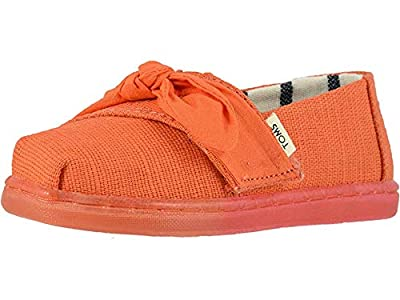 TOMS Kids Baby Girl's Alpargata (Infant/Toddler/Little Kid) Salmon Heritage Canvas/Bow/Ombre Ice Outsole 7 M US Toddler