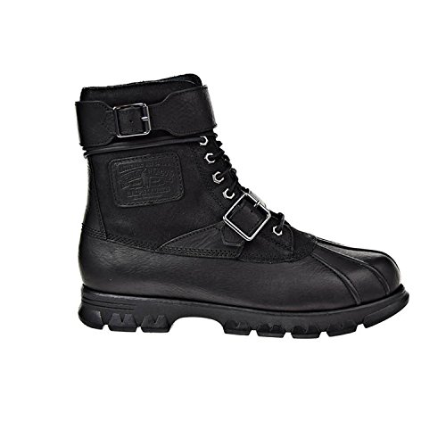 Polo Ralph Lauren Men's Drax Boot, Black/Black, 9.5 D - Outlet Us Lauren Ralph