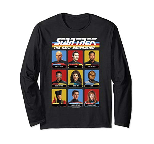 Star Trek The Next Generation Crew Roster Long Sleeve Tee ()