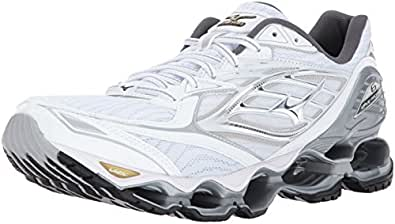 superior quality Mizuno Wave Prophecy 6 Men Running Shoes White Silver Gold