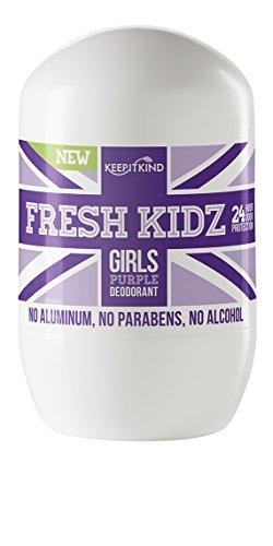 """Fresh Kidz Girls """"Purple"""" Natural Roll on Deodorant 1.86 Fl"""