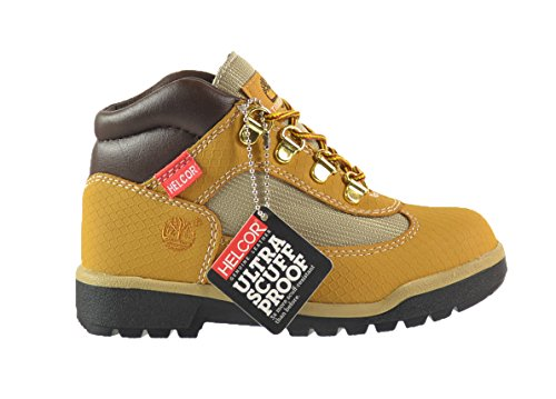 Timberland Field Little Kids Helcor Boots Wheat/Black 3372r (1.5 M US) (Timberland Scuff Proof For Kids)
