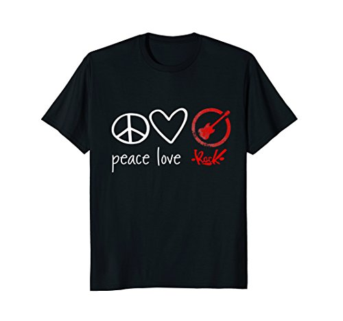 Peace Love Rock Tee - Rock n Roll -